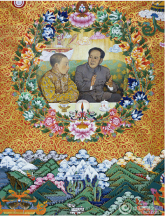 Chairman Mao Meets with 10th Panchen Lama
