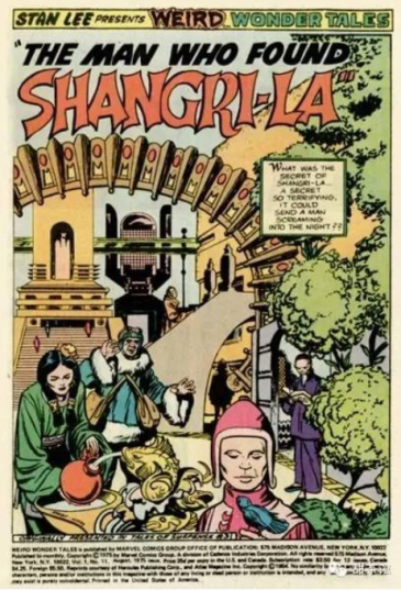 "From ""Weird Wonder Tales"" - ""Slaughter in Shangri-La"" and ""The Man Who Found Shangri-La"", both from #11, Aug 1973"