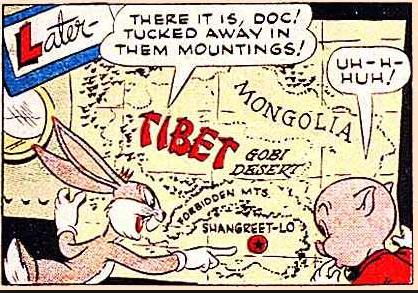 Bugs Bunny's Dangerous Venture, 1946.