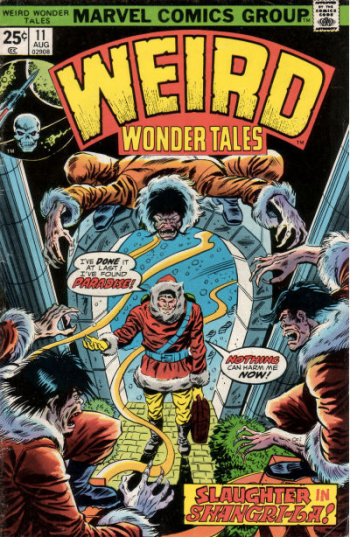 """From """"Weird Wonder Tales"""" - """"Slaughter in Shangri-La"""" and """"The Man Who Found Shangri-La"""", both from #11, Aug 1973"""