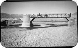 "Captioned as ""Lhasa's modern-styled bridge"""