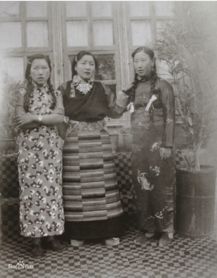 "Captioned as ""Aristocrat women wearing qipao"""