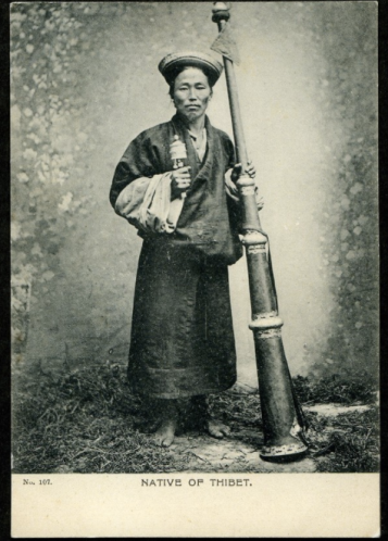 """From """"Tibetan Men in Postcards from 100 years Ago"""""""